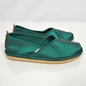 TOMS Petra Emerald Matte Iridescent Slide On NEW